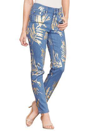 Foil Print Jeans By Denim 24 7