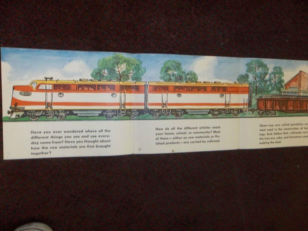 vintage ASSOCIATION OF AMERICAN RAILROADS 13-FT. DOUBLE SIDED ART Bill Bunce