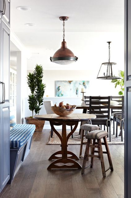 Dining Table Chandelier Breakfast Nook Bench And Round Copper