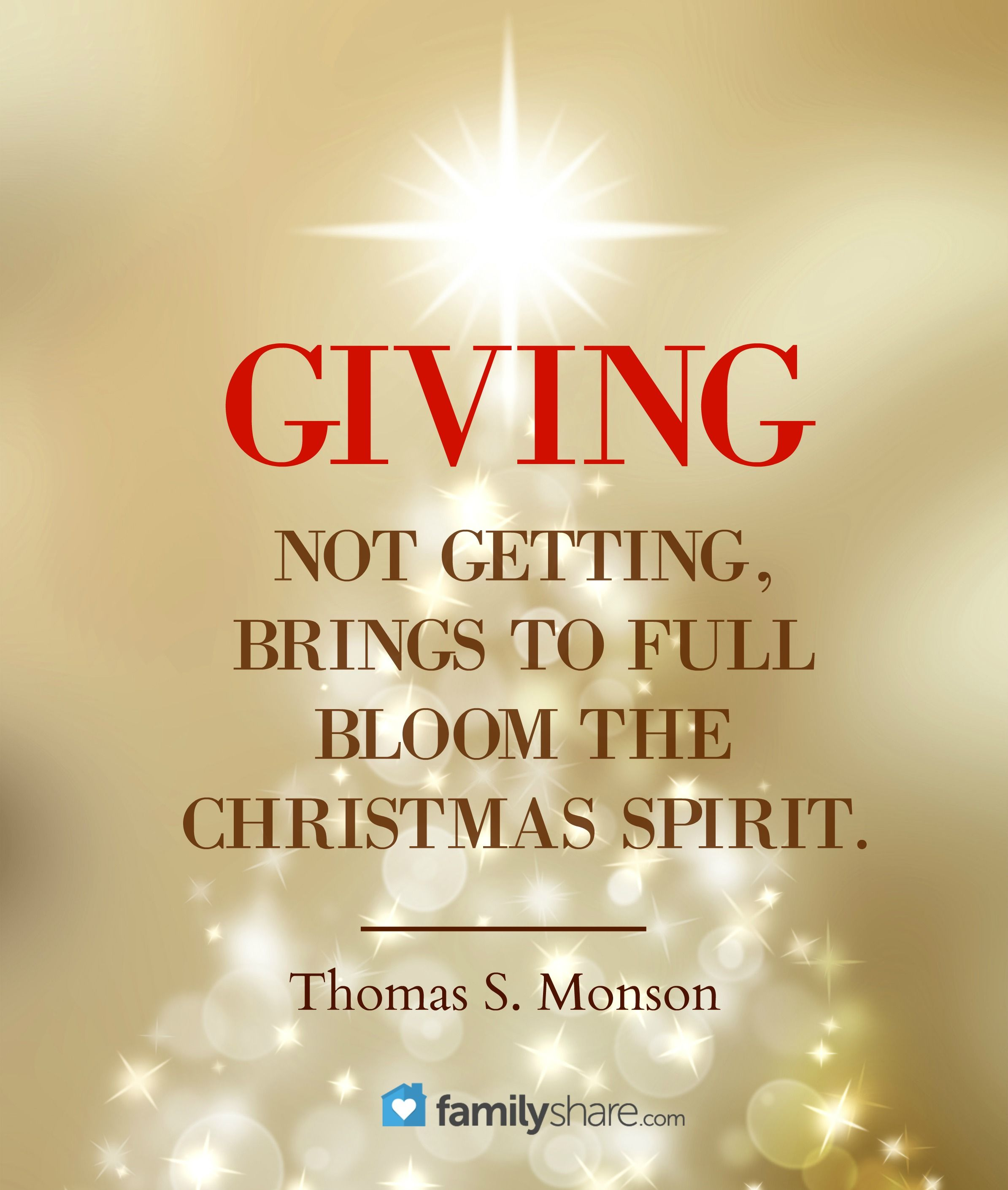 Giving not getting, brings to full bloom the christmas spirit ...