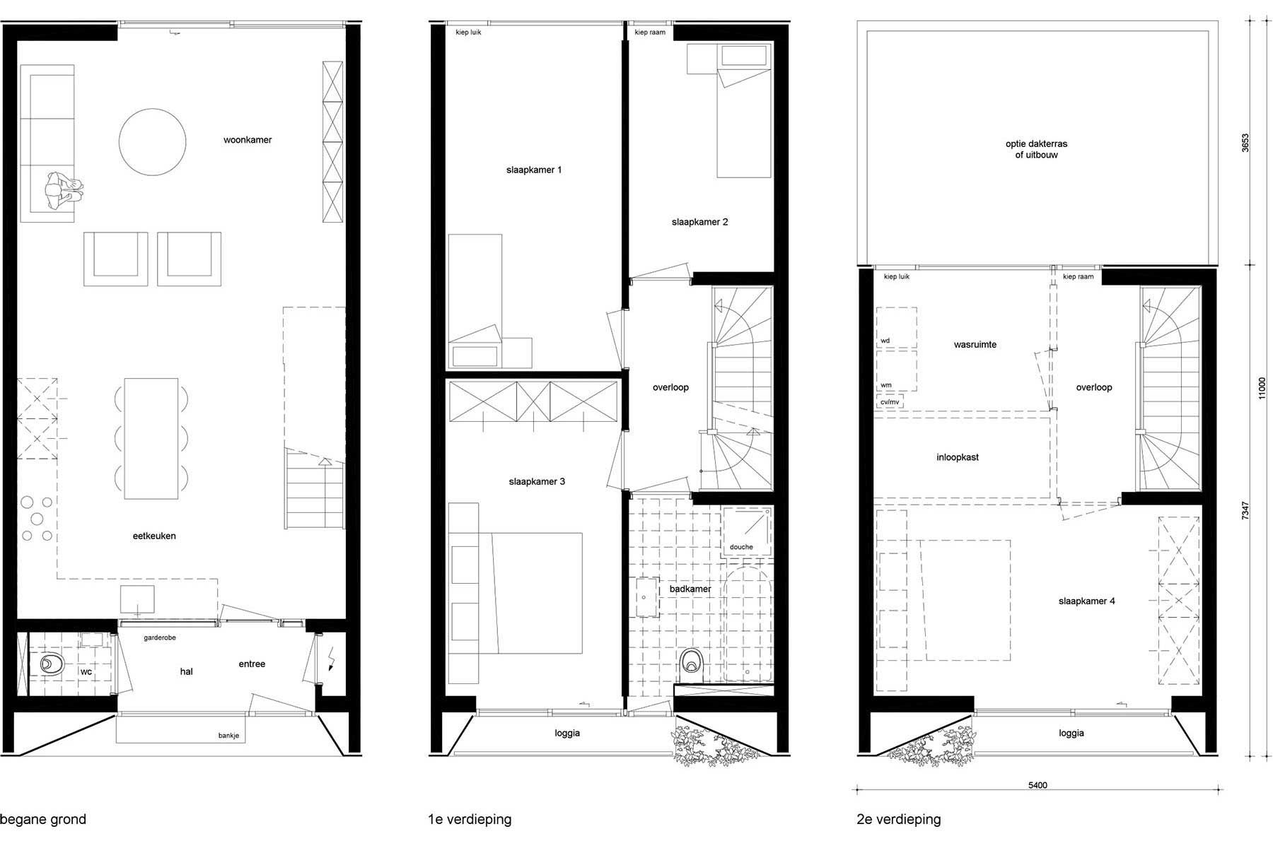 Superb 8A Architecten | Loggia House   Moderne Zelfbouw Rijwoning / Tussenwoning  Met Loggiau0027s / Balkons