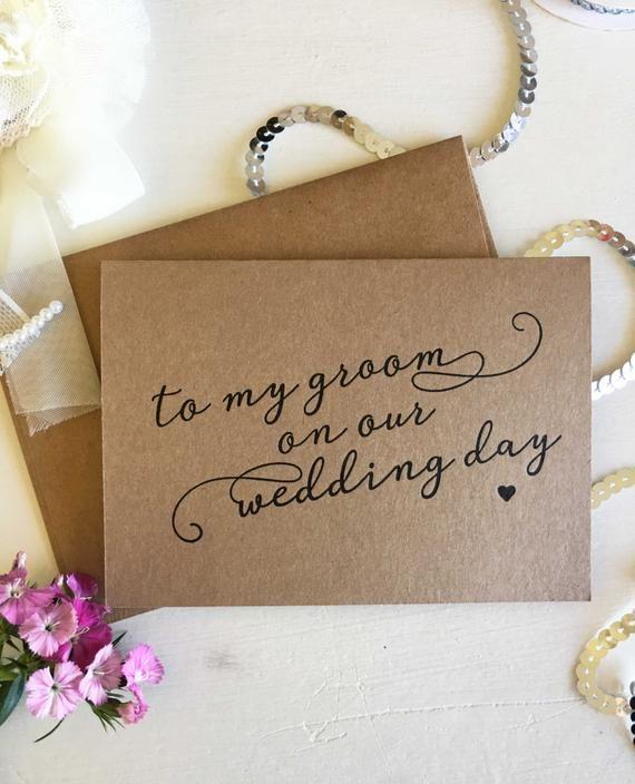 Groom Card From Bride, My Groom Card, Groom Gift From