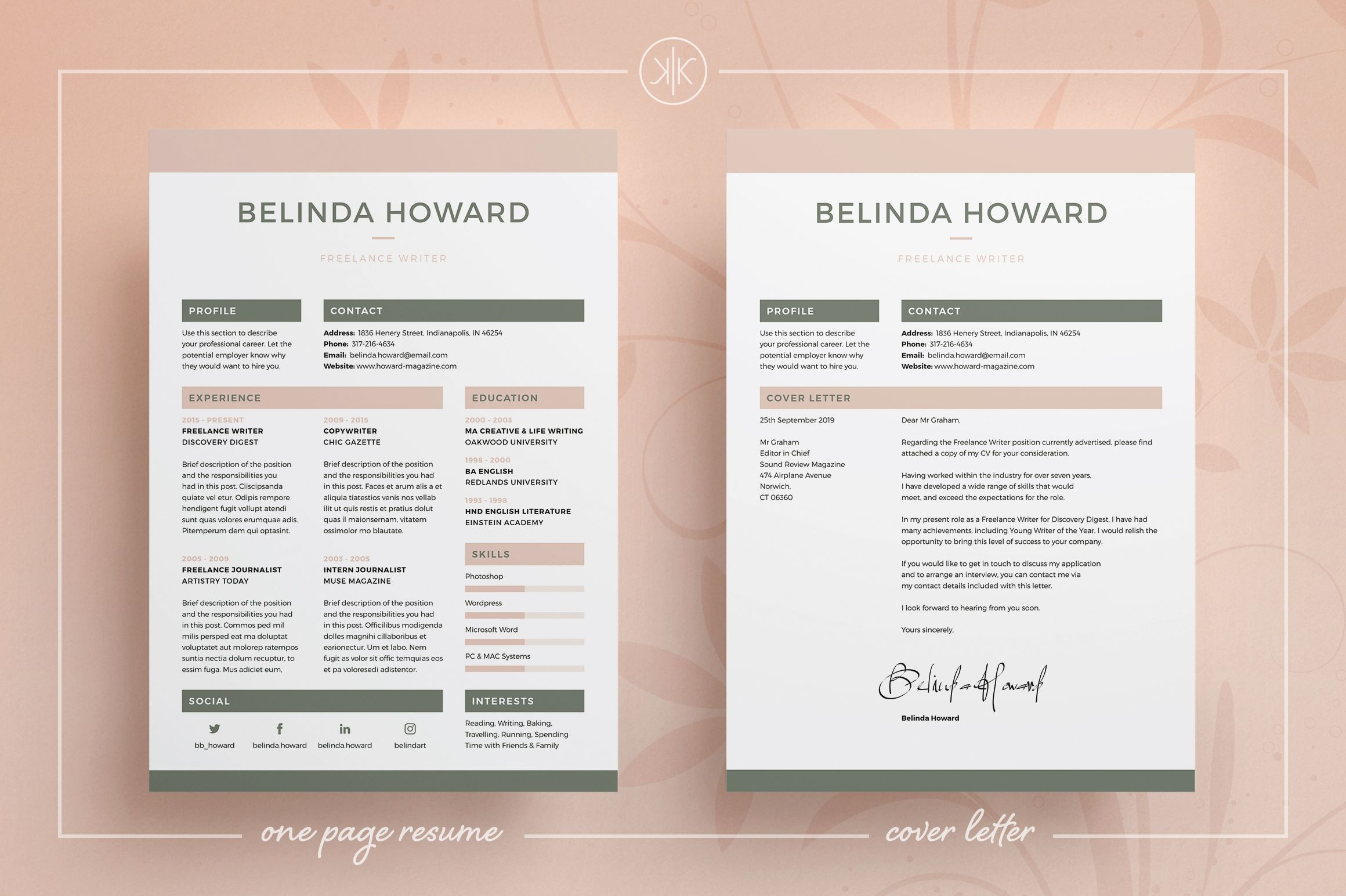 ResumeCv  Belinda  Resume Cv Cv Template And Cv Cover Letter