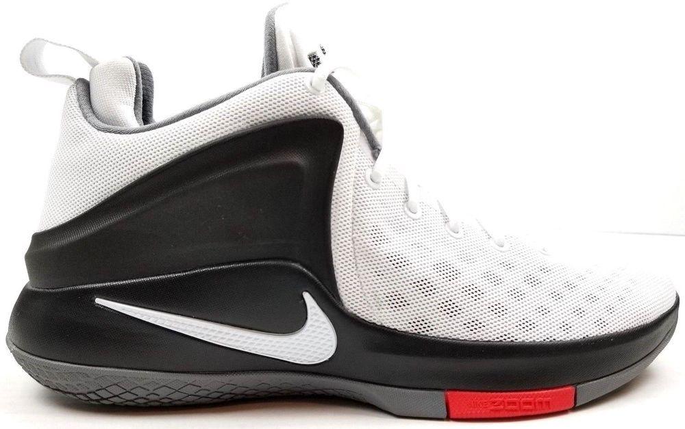 0bbf2b701fe Nike Zoom Witness Basketball Shoes Mens 10.5 White Black Cool Grey Lebron   Nike  BasketballShoes