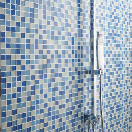 Mosaïque Shaker Mix, bleu, 22x22 cm salle de bain Pinterest