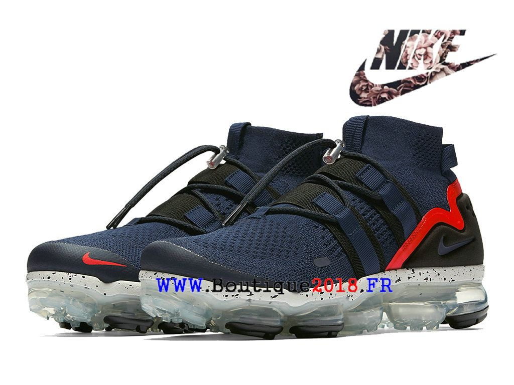 bee28380210be Nike Air VaporMax Flyknit utility Pas Cher Prix Asphalt Chaussures Homme  College-Navy AH6834-406