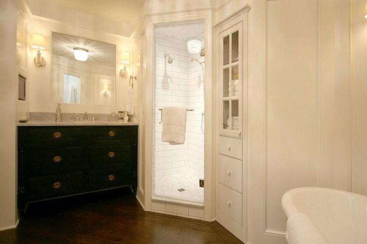 Built In Cabinet With Glass Doors Ideas Cabinet Built In Bathroom Storage Glass Shower Door L Corner Shower Tile Trendy Bathroom Tiles Bathroom Design
