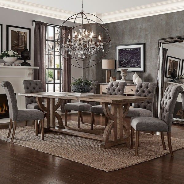 25 Elegant And Exquisite Gray Dining Room Ideas: Paloma Salvaged Reclaimed Wood Rectangular Trestle Dining