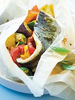 Bar en papillote au pesto recette picard cuisiner le poisson en papillote pesto et recipes - Cuisiner le bar ...