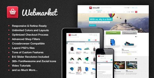Online store html template | webmarket for online shop mpwpthemeart.