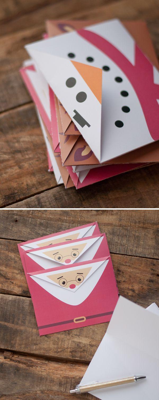 Imprimible sobres de navidad bueno bonito y barato - Tarjeta de navidad manualidades ...