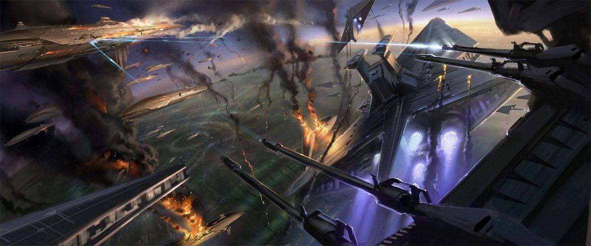 Concept Ships Revenge Of The Sith Spaceship Art By Ryan Church Star Wars Art Star Wars Star Wars Concept Art