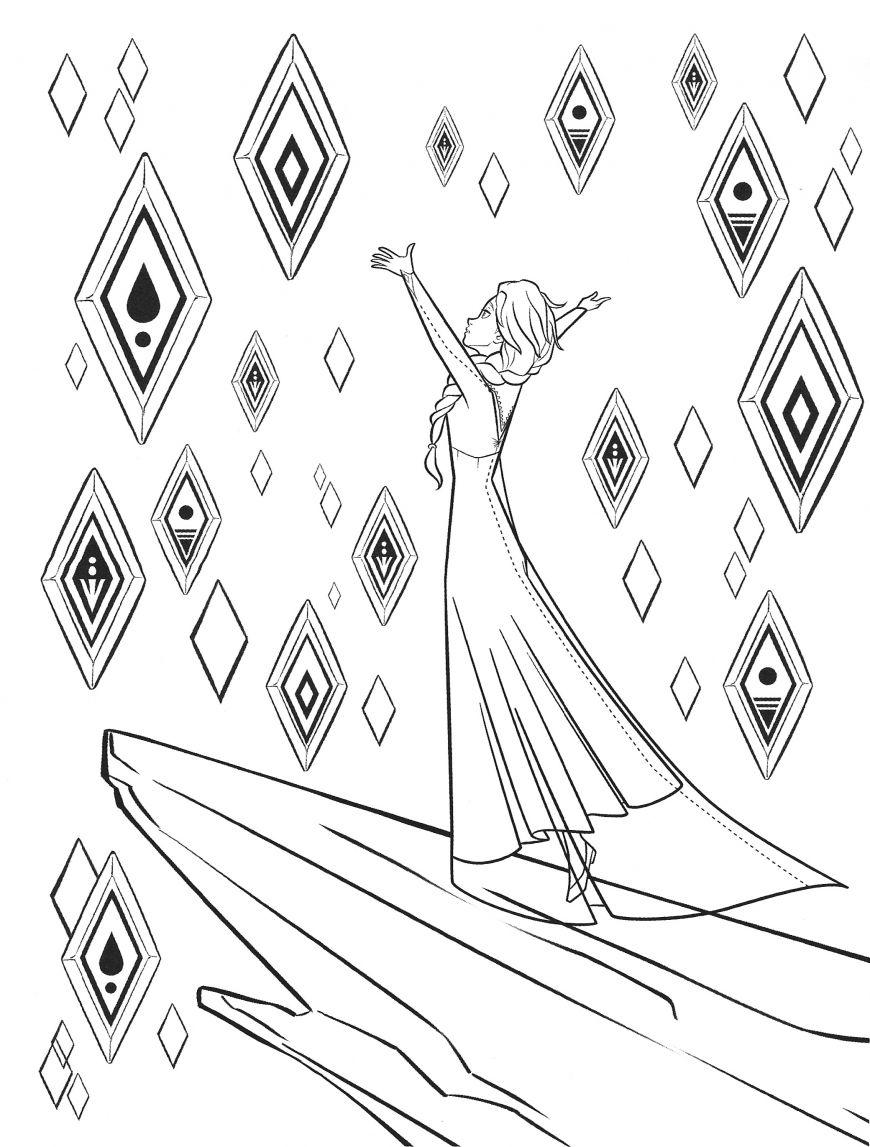 New Frozen 2 coloring pages with Elsa trong 2020 (Có hình ảnh)