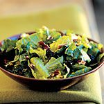Mixed Green Salad With Dried Plums and Toasted Pecans-  antioxidant-rich!