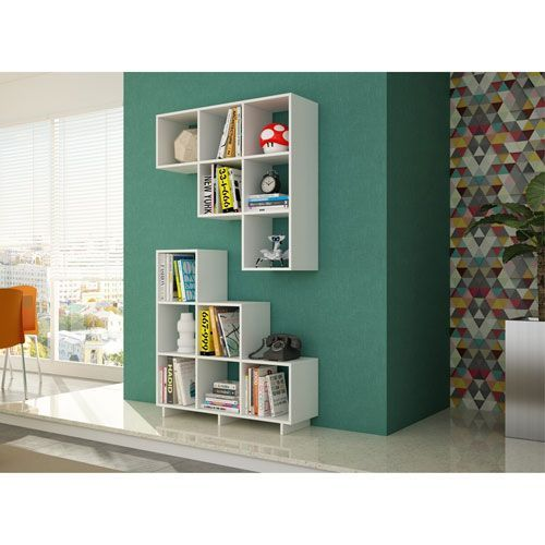 Cascavel White Stair Cubby Cube Shelves Shelves Cubby Shelves