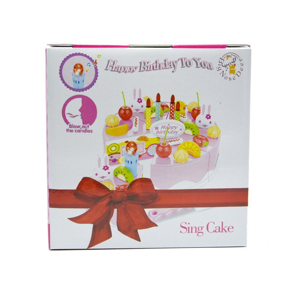 Amazon Bignosedeer Birthday Singing Cake Toy Play Party Cake