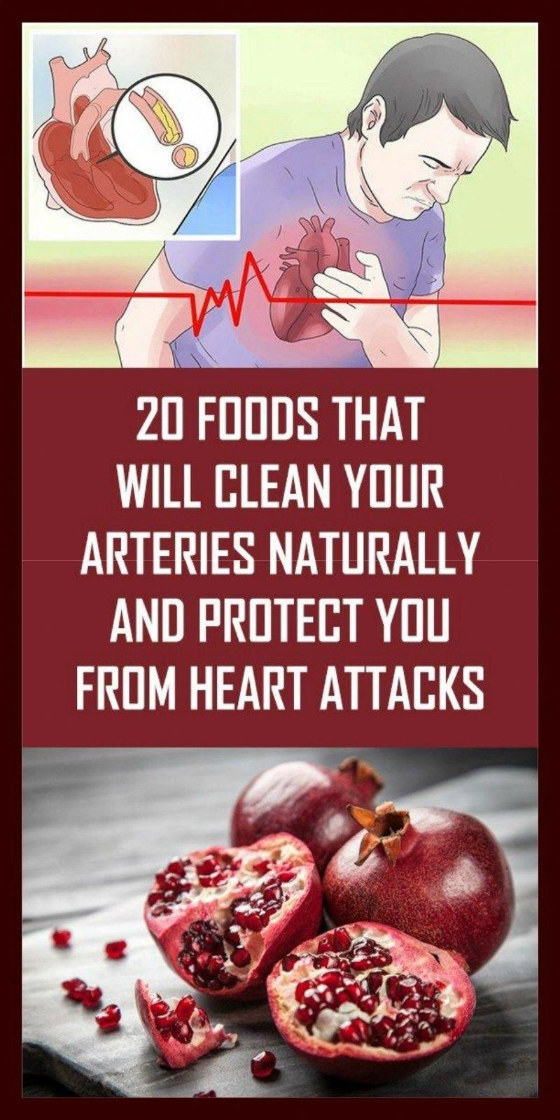20 Foods That Will Clean Your Arteries Naturally And