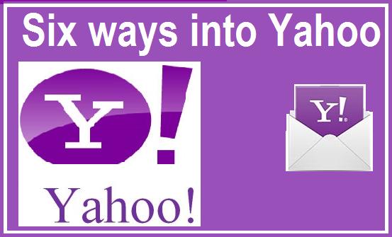 Six ways into Yahoo Yahoo answers, Visual content, Finance