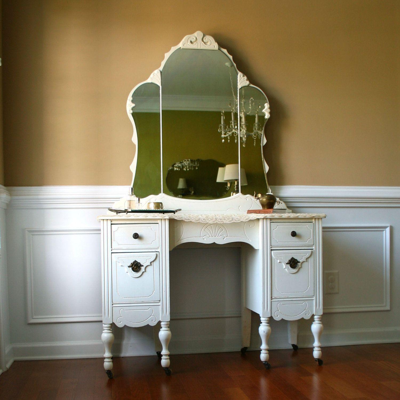 Antique mirror and desk vanity desk with mirror antique antique mirror and desk vanity desk with mirror geotapseo Gallery