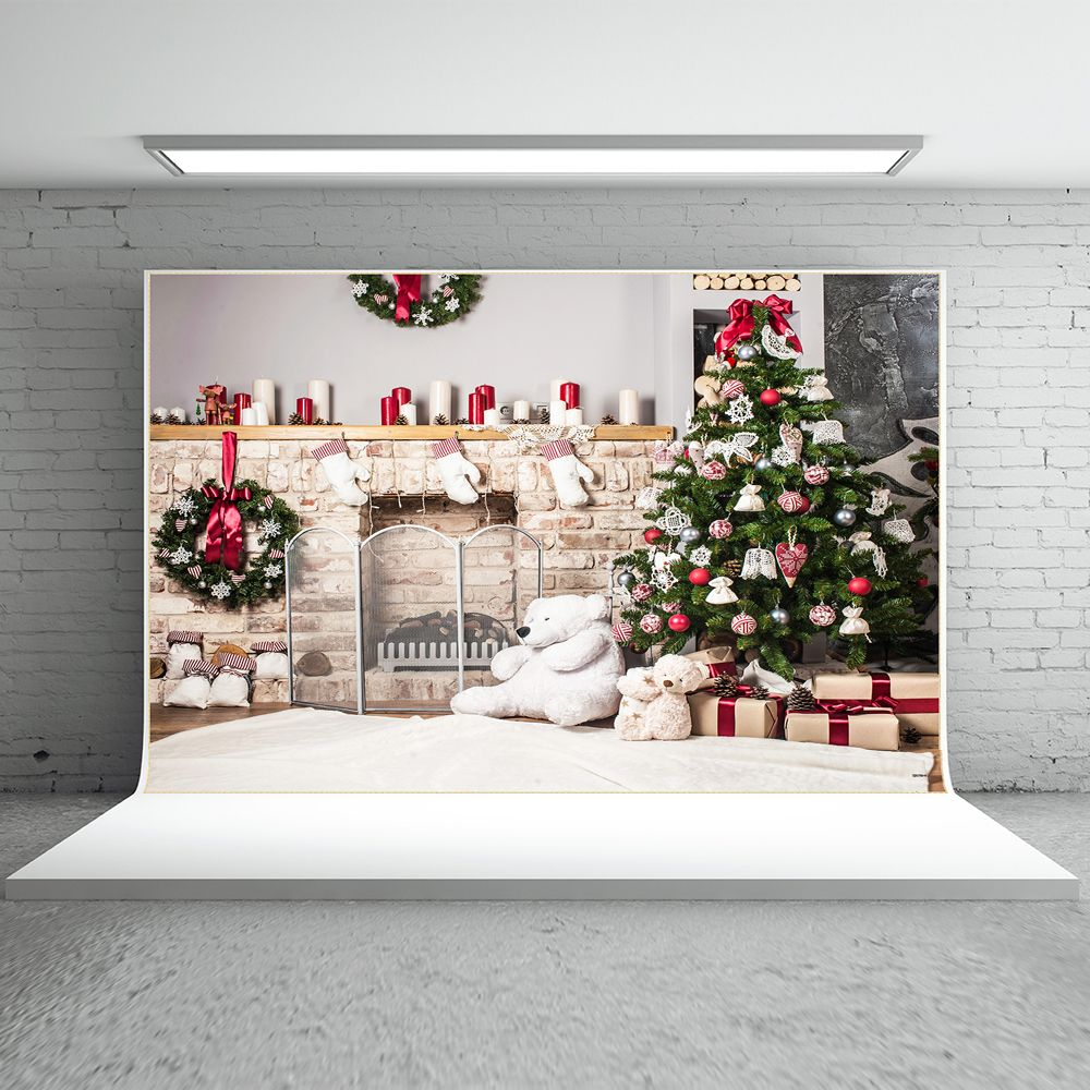 find more background information about kate christmas backdrop photography brick wall white bear background white floor for children photo studio background