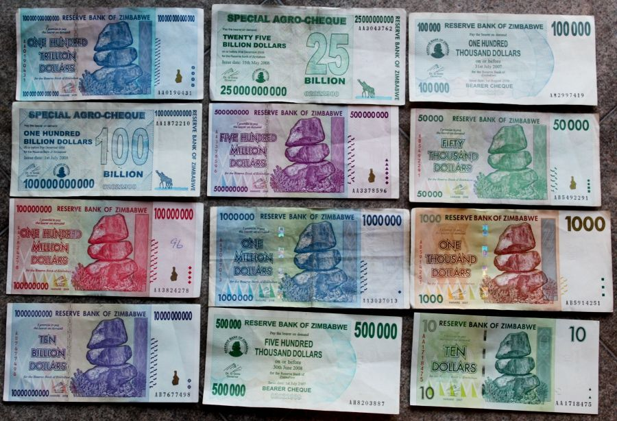Zimbabwe Currency One Hundred Trllion Dollar Note For The Last Five Years Most People Have Been Using Us Dollars Or South African Rand But From