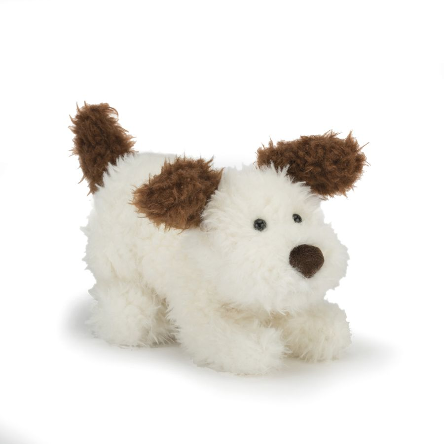 Jellycat PP6BUS Playful Pup Buster Brown and White 2020