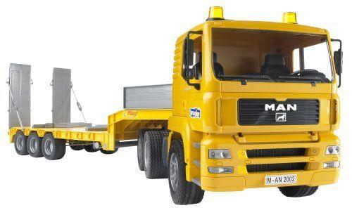 Bruder Toys Man Tga Low Loader Truck By Bruder Toys 63 19 Front