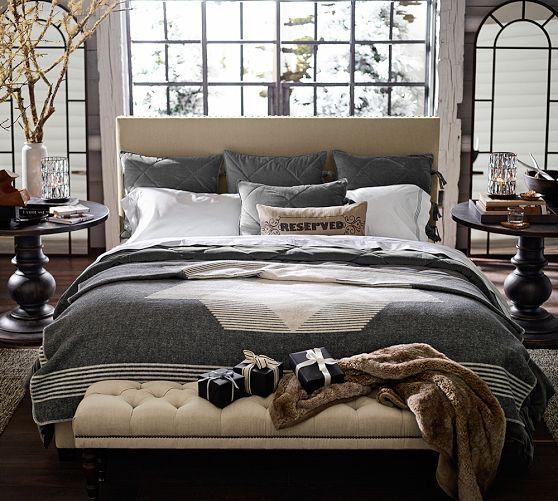 Rustic Lodge Blanket - Gray