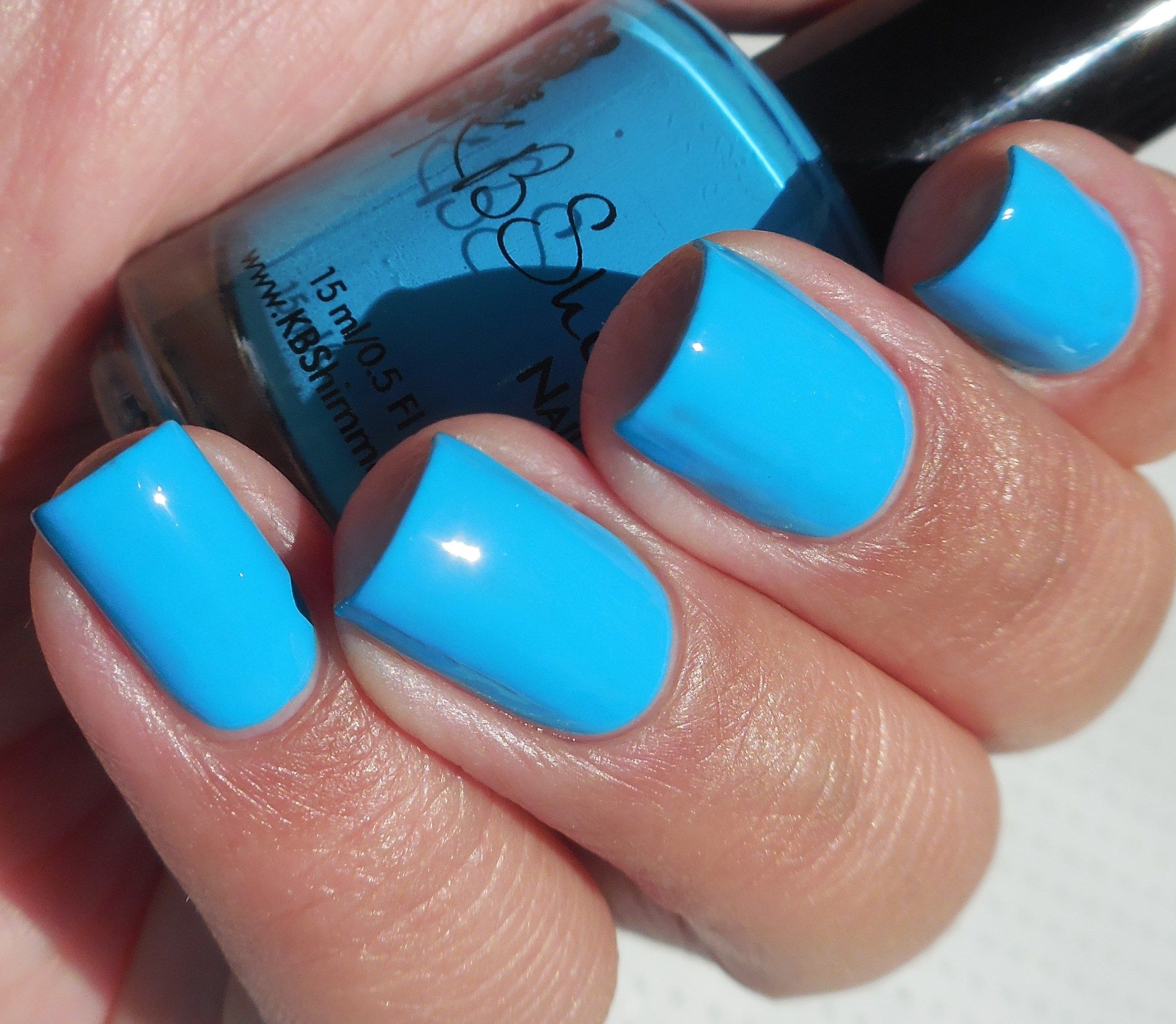 KBShimmer: 💙 Double Pog Dare You 💙 ... a beautiful neon blue creme ...