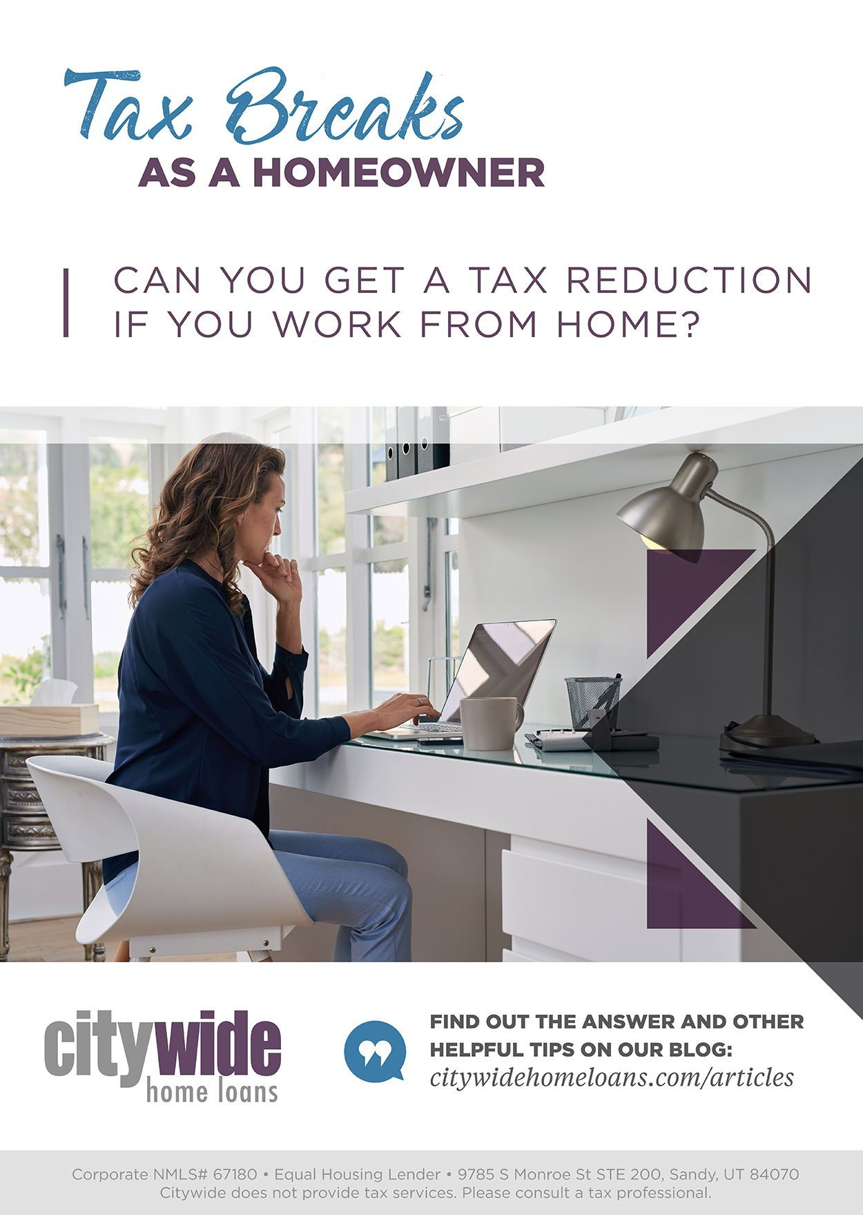 Homeowner Tax Breaks Can You Get A Tax Reduction If You Work From