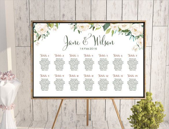 Wedding Seating Chart Template  Wedding Seating Wedding And