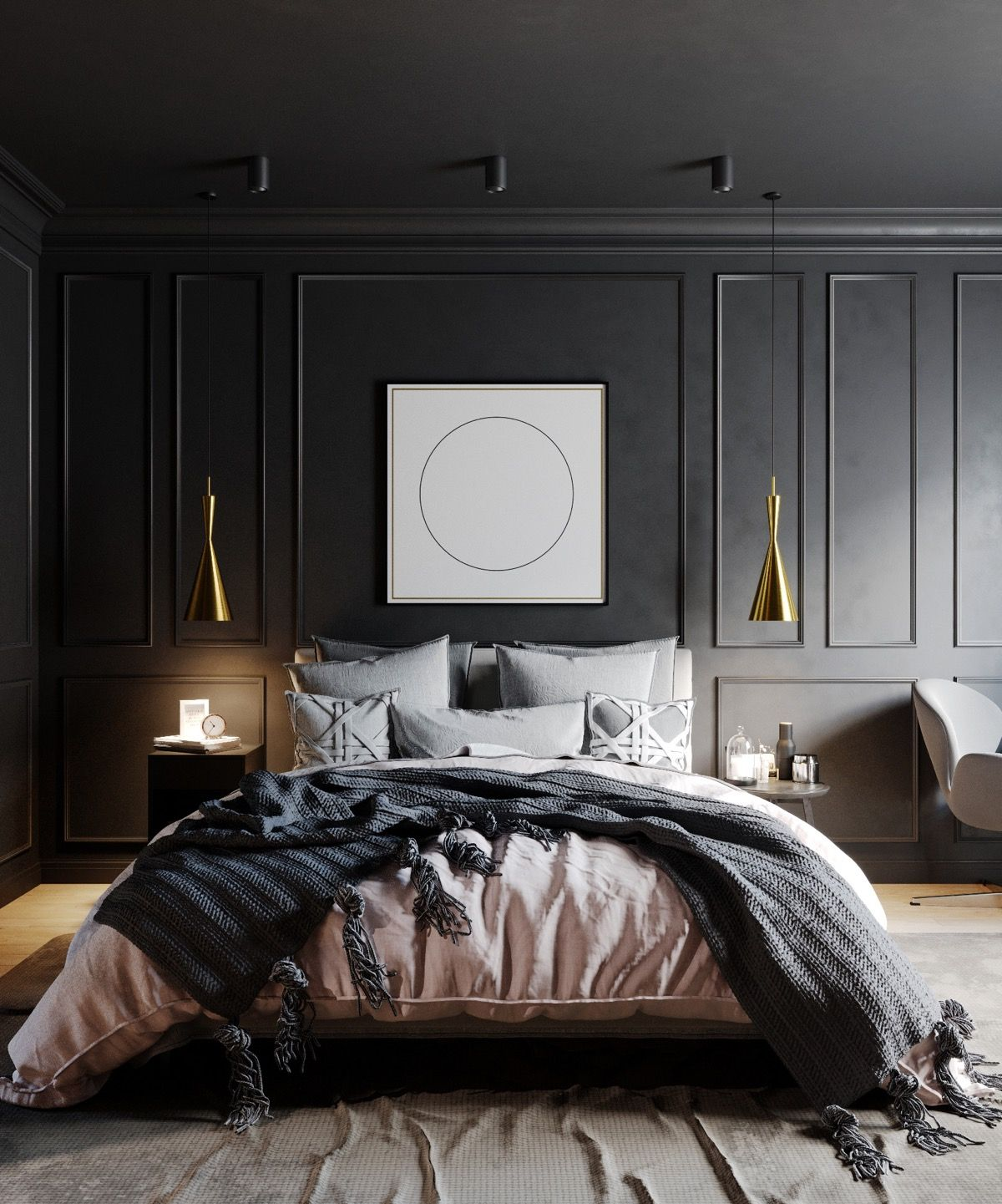Schlafzimmer Schwarze Möbel 51 Beautiful Black Bedrooms With Images, Tips & Accessories To Help You Design Yours | Black Bedroom Decor, Black Bedroom Design, Home Decor Bedroom