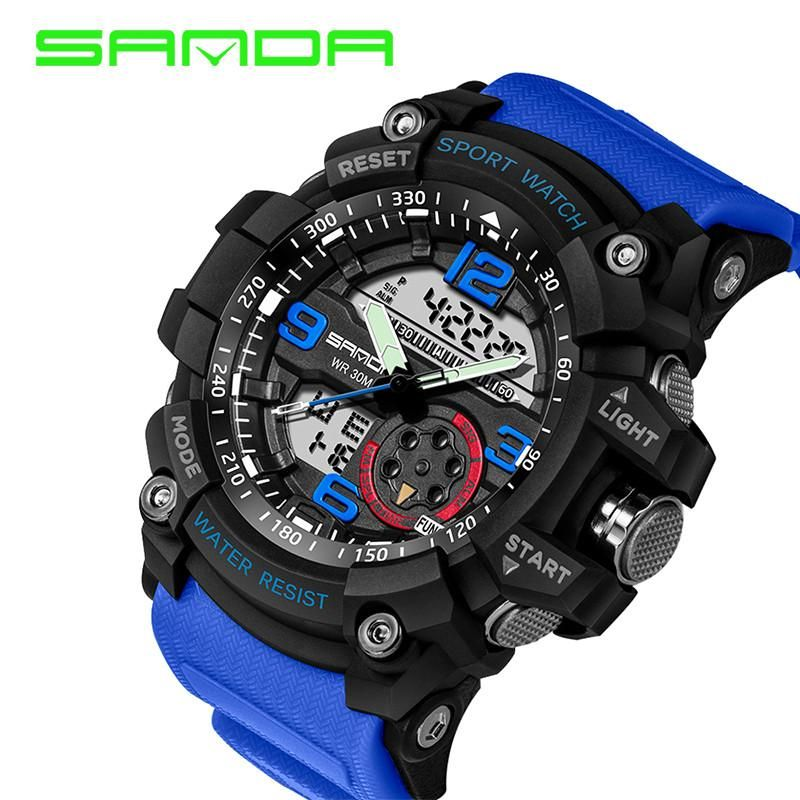 Sanda Sport Watch Men Waterproof 759 Relojes Deportivos Hombre Relojes Deportivos Y Reloj