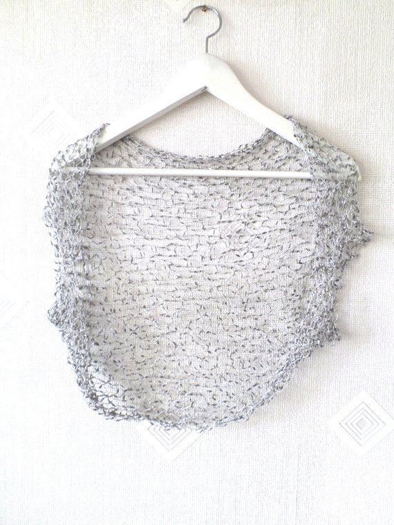 Hand knit shrug, knit bolero, wedding bolero, wedding dress cover ...
