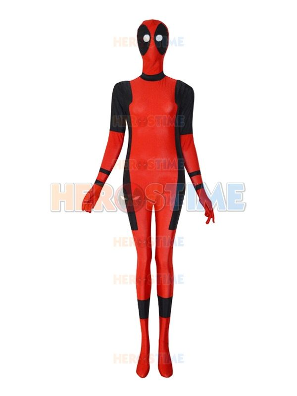 Click to Buy << Deadpool costume Female Style Sector Eyes fullbody ...
