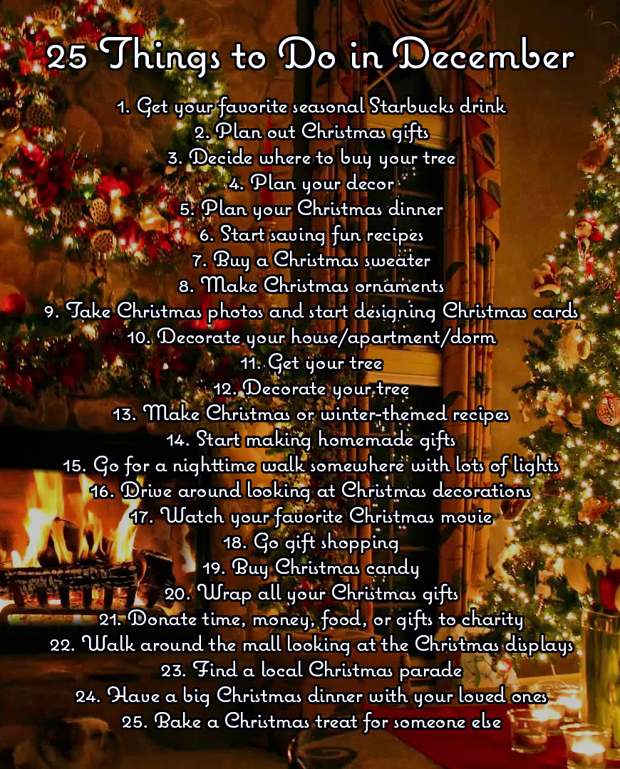 Things To Do Christmas 2019.25 Things To Do In December Christmas The Most Wonderful