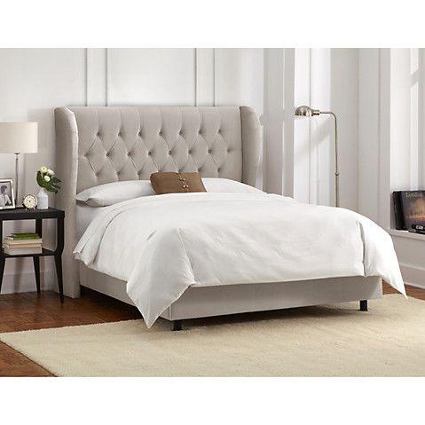 Best Reed Wingback Bed Light Gray Velvet Wingback Bed 400 x 300