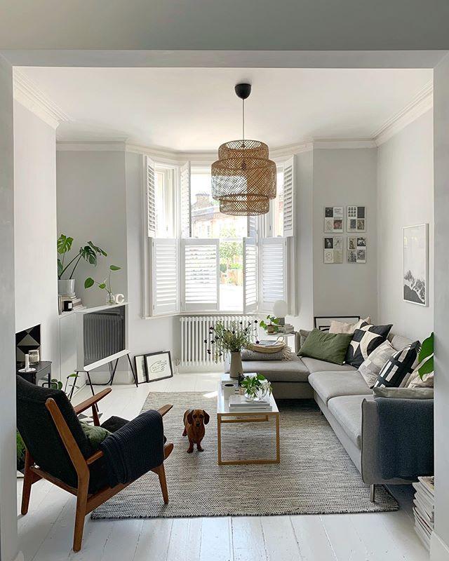 Open Plan Living Room In A Victorian Conversion Light Open Space Scandinavian Style Livin Scandi Style Living Room Scandi Living Room Victorian Living Room
