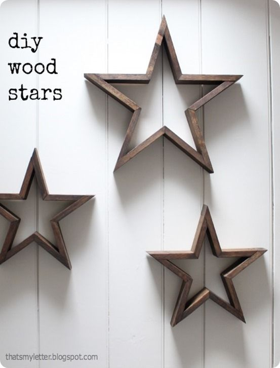 Rustic Wood Wall Stars Woodworking Pinterest Diy Wood Stars