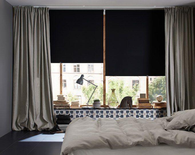 Roller Schlafzimmerschrank ~ Sunscreen roller blinds floor to ceiling windows sliding doors