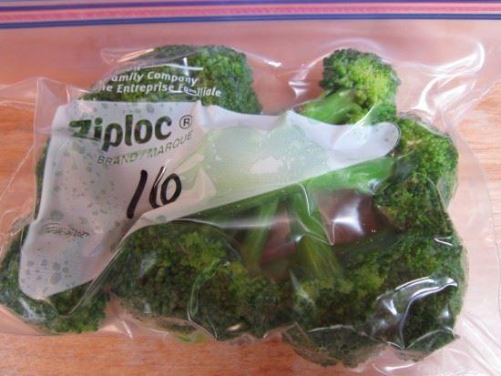 Broccoli ready for freezer
