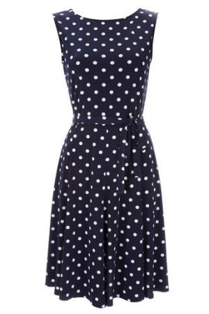 SHOP THIS LOOK  Kate Middleton s blue polka dot dress  c10e46049