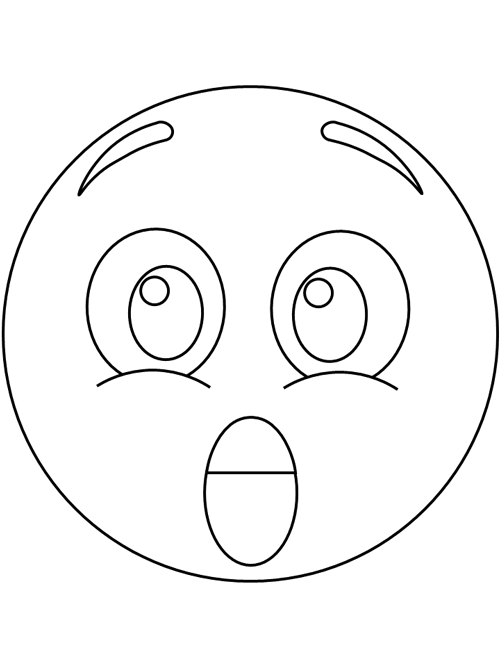 Surprised Emotion Coloring Pages Emotions Printable Coloring Pages