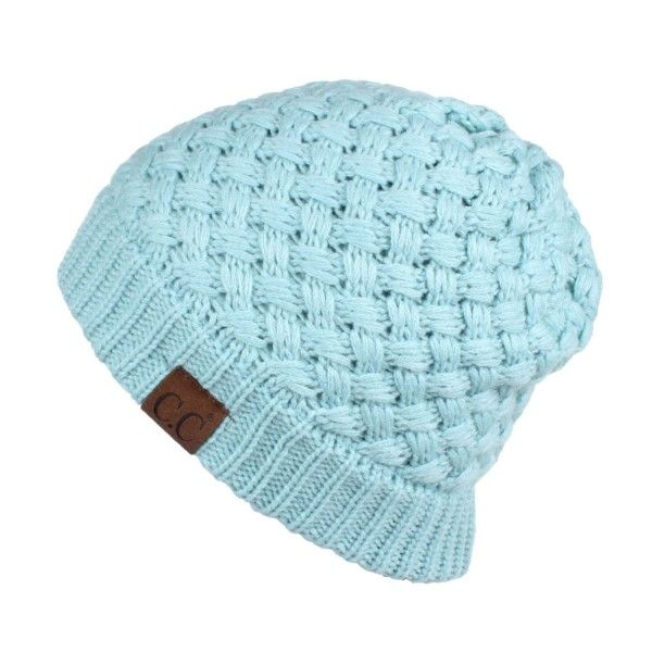 ad795a94d3a HAT-47  Ribbed knit C.C Beanie. 100% acrylic.