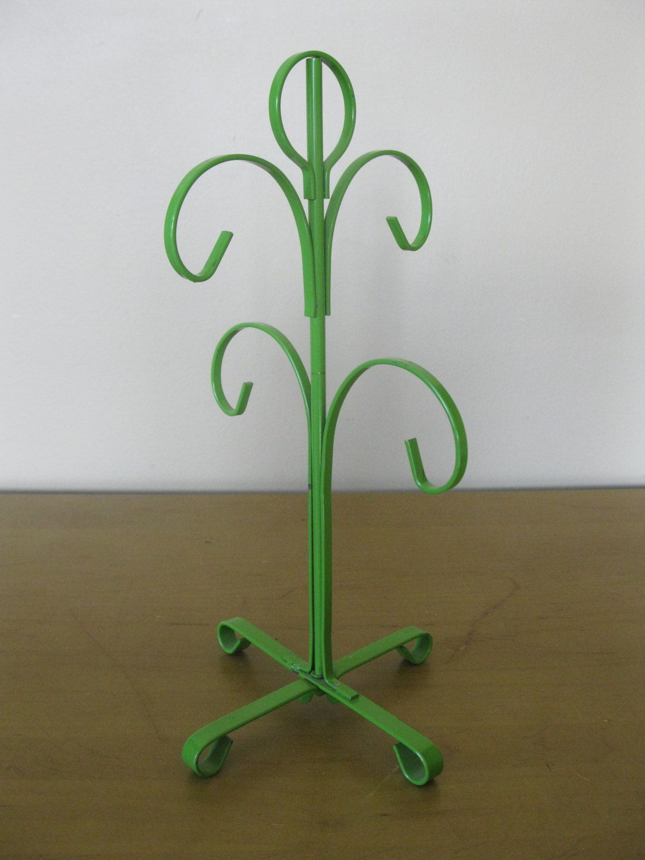 Vintage Metal Cup Holder- Cup Tree- Cup Holder- Mug Tree -AVOCADO ...