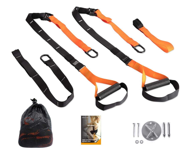 Ideer Life Resistance Straps Trainer Kit Whole Body Training Straps Set W Wall Mount Bracket For Door Pull Up Bar Or A Body Training Pull Up Bar Strap Trainer