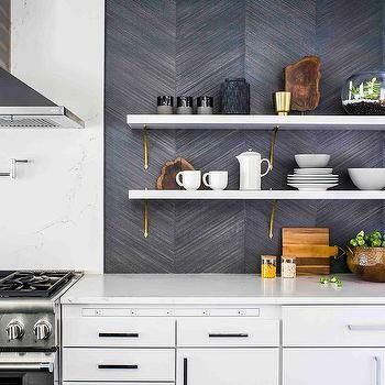 Dark Gray Chevron Kitchen Backsplash Tiles With Images Trendy