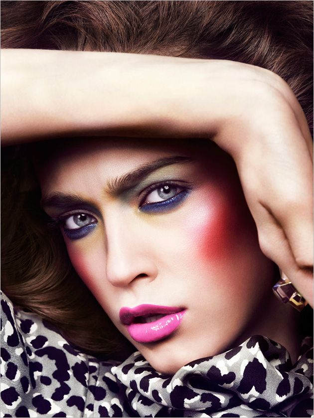 Italian Flaire beauty editorial from March 2009 featuring Madisyn Lynn Ritland photographed by Jem Mitchell.