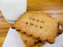Your s'mores will never be the same once you try this recipe for Malcolm's Homemade Graham Crackers.  Learn how to make graham crackers that are way better than the kind out of the box with this simple recipe.  The key is to bake them just until they're lightly browned so they taste perfectly crispy.