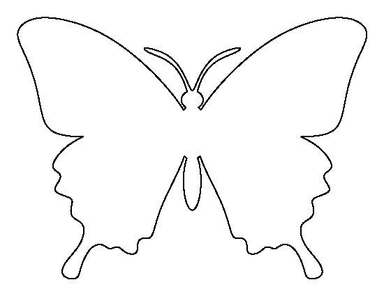 Butterfly pattern Use the printable outline for crafts, creating - butterfly template